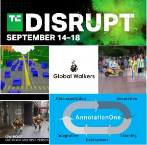 "AI Tech Venture Company "" Global Walkers"" participates in the Startup Alley of Disrupt2020"