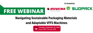 Rovema Announces September 15 Sustainable Packaging Webinar