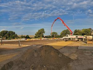 Concrete Pour for new Dredge Assembly Facility