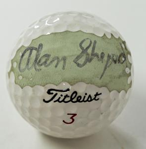 Golf ball signed by America's very first man in space, Alan Shepard (est. $4,000-$6,000). Shepard signed it for the consignor – a former friend of the astronaut