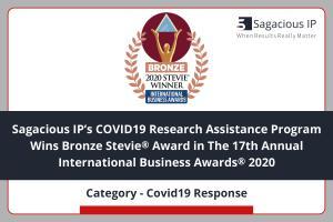 Press Release - Sagacious IP wins Bronze Award in International Business Awards 2020
