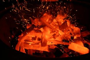 Super Hot Charcoal Fire