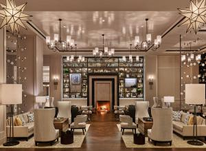 The Hotel at Avalon lobby reflects hotel's modern design.