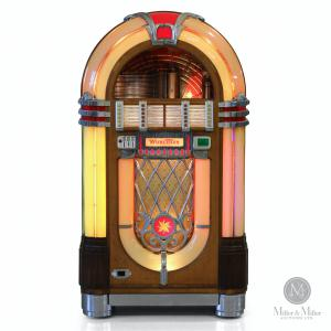 Wurlitzer Model 1015 jukebox, made in America in 1946, the most identifiable jukebox ever produced, with a library of 78 rpm records with title cards (CA$11,210).