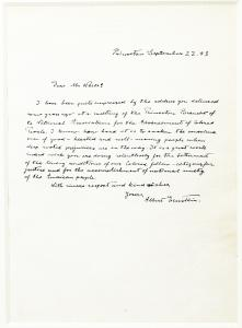 Writing in a neat cursive hand, Albert Einstein strongly condemns racism and segregation in the United States. The words are still relevant today – nearly 80 years later.
