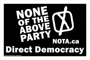 None of the Above Direct Democracy Party of Ontario and Canada