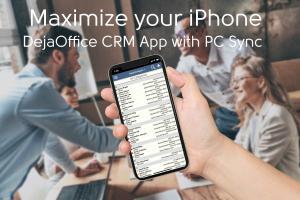 iPhone showing DejaOffice App