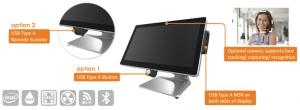 PT2610 POS with various optional features