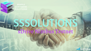 Simple Software Solution launches its sDrive Nimbus testnet