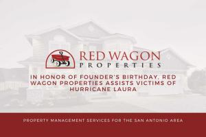 In Honor of Founder's Birthday, Red Wagon Properties Assists Victims of Hurricane Laura