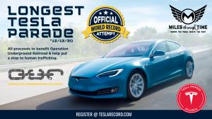 Longest Tesla Parade World Record