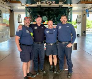 Battalion Safety Officer Jim Barnhart with fellow Mesa Department Station 201 members.