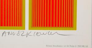 Anuszkiewicz's signature in pencil