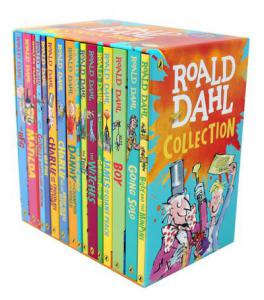 Roald Dahl Collection 16 Paperback Books Classic Kids Gift Box Stories
