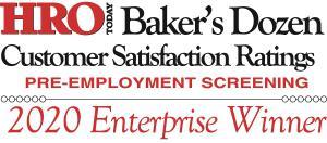 2020 HRO Today's Baker's Dozen Enterprise Screening Winner