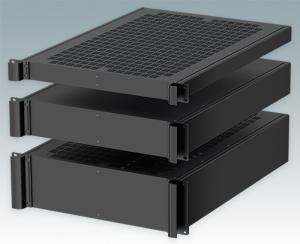 "COMBIMET 19"" rack cases are also available in 24"" deep versions as standard"