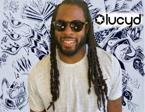 Richard Sherman, American football star, sporting Lucyd Lyte e-glasses.