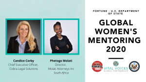 15TH ANNUAL FORTUNE – U.S. DEPARTMENT OF STATE GLOBAL WOMEN'S MENTORING PARTNERSHIP