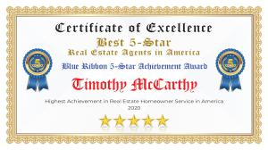 Timothy McCarthy Certificate of Excellence Dania Beach FL