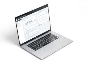 DT's easy to use web application, equipped with dashboards for data visualizations