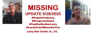 Larry Carter Missing Poster