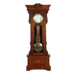 1880s William Gilbert Jewelers floor standing regulator in a walnut case with 8-day weight-driven regulator movement (est. CA$4,000-$6,000).