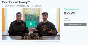 A screenshot from Cornbread Hemp's page on Wefunder.com
