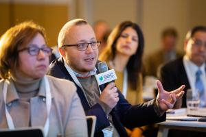 Sustainable Energy Europe Summit Photo of Participant Asking Question to Panel