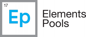 Logo For Pool Maintenance and Repair Services Company Elements Pools