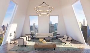 Perched thirty-seven floors above the 50-yard line of Central Park South on Billionaire's Row.