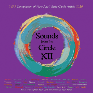 Vibrant purple Cover art for music album Sounds from the Circle XII, the twelfth annual compilation 2020.