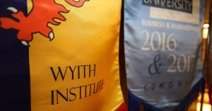Picture showing the Wyith Institute™ flag in 2017 Graduation Ceremony