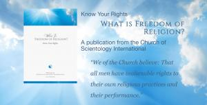 What is Freedom of Religion—a comprehensive handbook provided free of charge by the Church of Scientology.