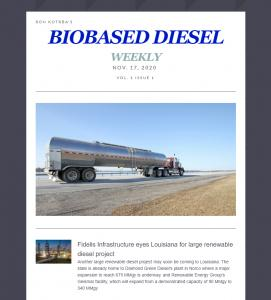 Biobased Diesel Daily's new weekly e-newsletter, Biobased Diesel Weekly, debuts Nov. 17