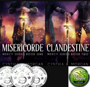 Cynthia Morgan's books Misericorde and Clandestine