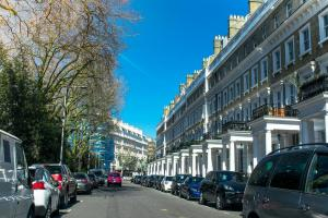 Street in London lined with townhouses