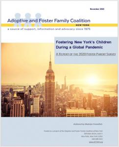 report of the responses generated by the non-profit organization's 2020 Foster Parents' Survey.