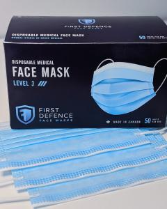 Canadian Made Medical ASTM Level 3 Mask | First Defence Face Masks