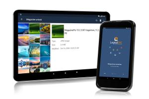 Tablet and Smartphone with LogicalDOC Mobile thumbnail gallery