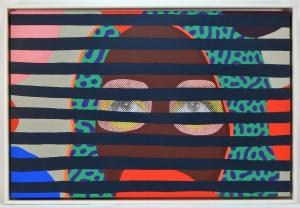 Two paintings by Paul Insect (U.K., b. 1971) include Blind Views (2014), signed and dated on verso and measuring 24 inches by 36 inches (sight, less the frame) (est. $10,000-$15,000).
