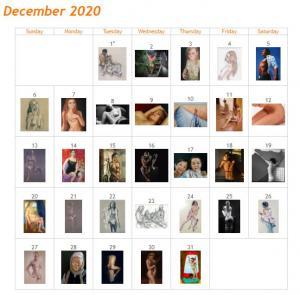 December 2020 Art of the Day Calendar