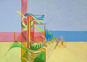 "Seabird by Myron Barnstone, Devon, 1971, Acrylic on paper, 15.5"" x 21.5"""
