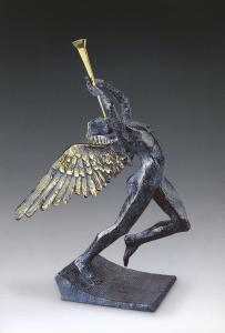 The angelic figure in Triumphant Angel is highlighted with a striking blue patina by the artist Salvador Dalí (1904-1989).