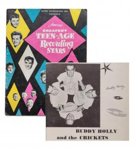 Buddy Holly signed program from America's Greatest Teen-Age Recording Stars tour, 24-pages, including the signatures of ten other performers (est. $2,000-$3,000).