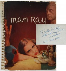 """Signed collection of photographs from surrealist artist and photographer Man Ray (US/France, 1890-1976), inscribed, """"To sister Dorothy with all my love"""" (est. $5,000-$7,000)."""