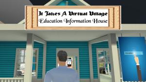 Virtual Village House Closeup Image