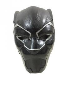 Black Panther character latex mask, a prototype mask designed to be worn by the film's star, Chadwick Boseman (est. $5,000-$7,000).