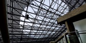 Edmonton Convention Centre Photovoltaic Skylight Poetic Message Interior View