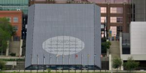 Edmonton Convention Centre Photovoltaic Skylight Poetic Message Exterior View