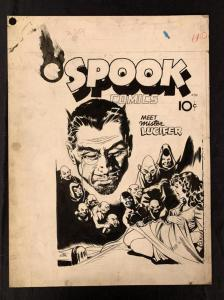 Original cover art for Spook Comics (1946) by John Giunta, 15 inches by 20 inches, from the Bailey Publishing archive and a classic from the Golden Age of Comics ($9,775).